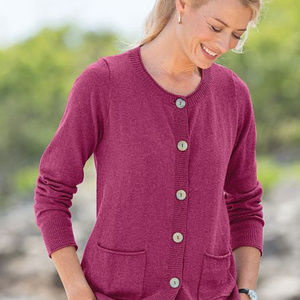 Appleseed's Pink Cardigan Sweater